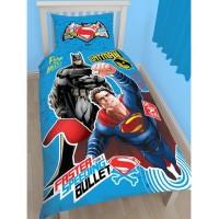 Batman ir Superman dvipusės viengulės patalynės komplektas