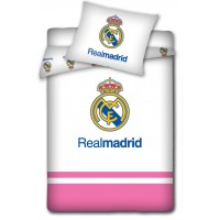Real Madrid CF Junior Single Cotton Duvet Cover Set (Pink)