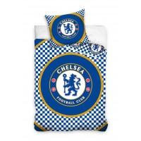 Chelsea F.C. patalynės komplektas 160x200 (Smulkiai languotas)