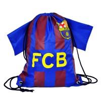 F.C. Barcelona drawstring gym bag shirt shape
