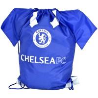 Chelsea F.C. drawstring gym bag shirt shape
