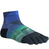 Injinji RUN 2.0 Midweight Mini-Crew penkių pirštų kojinės (Žalia/Mėlyna/Juoda)