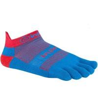 Injinji RUN 2.0 Lightweight No-Show penkių pirštų kojinės (Mėlyna/Raudona)