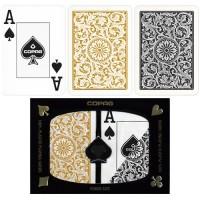 Copag dvi kortų kaladės specialioje pakuotėje (Aukso ir juodos spalvos)