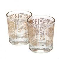 F.C. Barcelona dviejų viskio stiklinių rinkinys (TX)