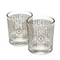 Chelsea F.C. dviejų viskio stiklinių rinkinys (TX)