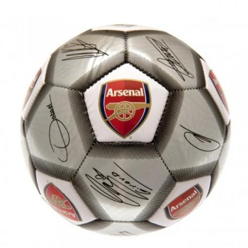 Arsenal F.C. futbolo kamuolys (Autografai. Pilkas)