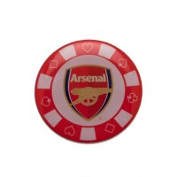 Arsenal F.C. poker chip pin badge