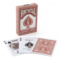 Bicycle Rider Back Fashion playing cards (Marsala)