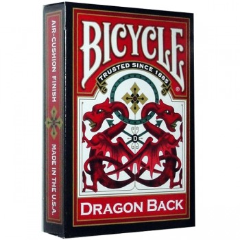 Bicycle Dragon Back kortos (Raudonos)