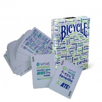 Bicycle Table Talk cards (Blue)