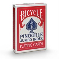 Bicycle Pinochle cards (Red)