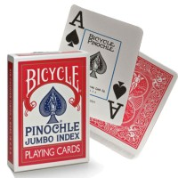 Bicycle Pinochle kortos (Raudonos)