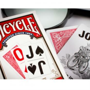 Bicycle Large Print kortos (Raudonos)