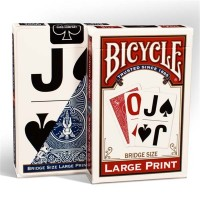 Bicycle Large Print cards (Red)