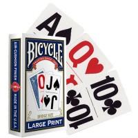 Bicycle Large Print kortos (Mėlynos)