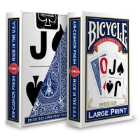 Bicycle Large Print cards (Blue)
