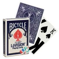 Bicycle E-Z-SEE LoVision kortos (Mėlynos)