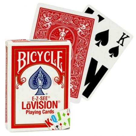 Bicycle E-Z-SEE LoVision kortos (Raudonos)