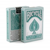 Bicycle Rider Back Fashion playing cards (Teal)