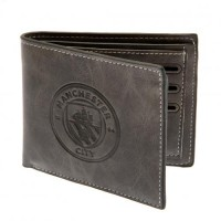 Manchester City F.C. Faux Suede Wallet (Grey)