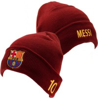 F.C. Barcelona knitted turn up hat (Messi)