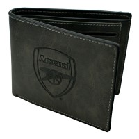 Arsenal F.C. Faux Suede Wallet (Black)