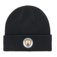 Manchester City F.C. knitted turn up hat (Navy)
