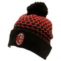 A.C. Milan žieminė kepurė su bumbulu (Raudona/Juoda)