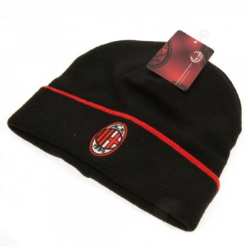 A.C. Milan atlenkiama žieminė kepurė (Juoda)