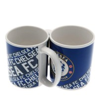 Chelsea F.C. puodelis (Mėlynas su logotipu)