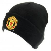 Manchester United F.C. atlenkta žieminė kepurė (Juoda)