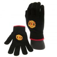 Manchester United F.C. žieminės pirštinės (Juodos)