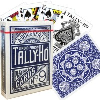 Bicycle Tally-Ho Fan back kortos (Mėlynos)