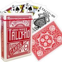 Bicycle Tally-Ho Fan back kortos (Raudonos)