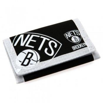 Brooklyn Nets piniginė (juoda su logotipu)