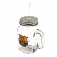F.C. Barcelona stiklinė su dangteliu