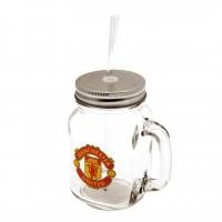 Manchester United F.C. stiklinė su dangteliu