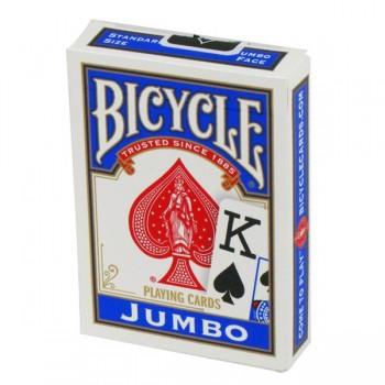 Bicycle Rider Jumbo pokerio kortos (Mėlynos)