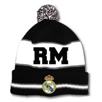 Real Madrid C.F. žieminė kepurė su bumbulu ir tekstu