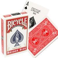 Bicycle Rider Back Bridge Size kortos (Raudonos)