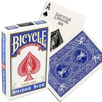 Bicycle Rider Back Bridge Size kortos (Mėlynos)