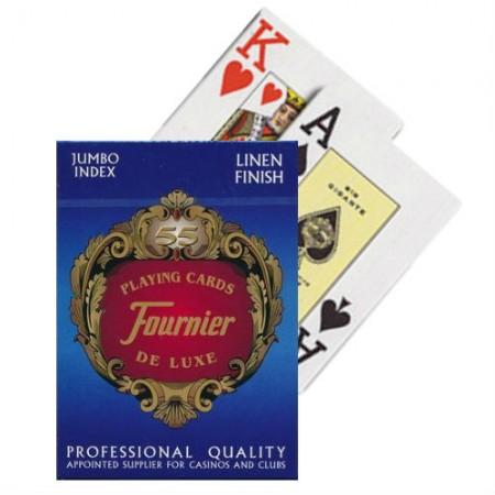 Fournier De Luxe 818 pokerio kortos (Mėlynos)