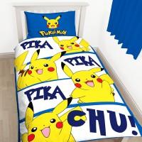 """""""Pokemon Pikachu"""" viengulis dvipusis patalynės komplektas"""