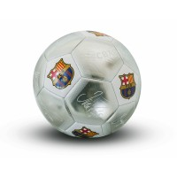 F.C. Barcelona treniruočių mini kamuolys (Autografai. Pilkas)