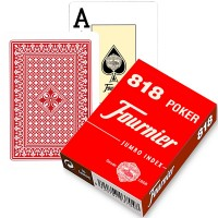 Fournier 818 pokerio kortos (Raudona)