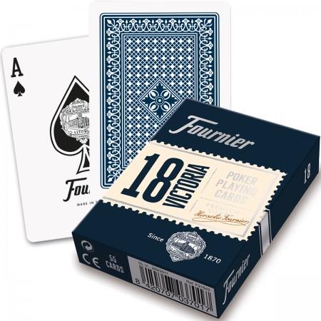 Fournier Victoria 18 pokerio kortos (Mėlyna)