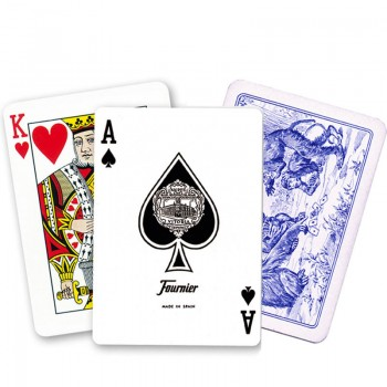 Fournier 40 pokerio kortos (Mėlyna)