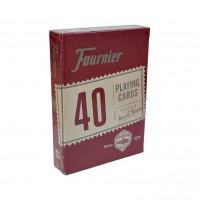 Fournier 40 pokerio kortos (Raudona)