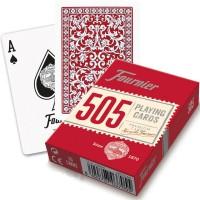 Fournier 505 pokerio kortos (Raudona)